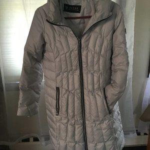 Grey Slim Puffer Coat